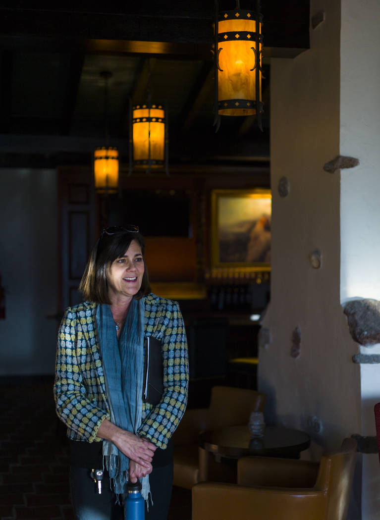 Dominie Lenz, general manager of the Oasis at Death Valley, takes in the views of The Inn at Death Valley in Death Valley National Park, Calif, on Tuesday, Jan. 23, 2018. The Inn, formerly the Fur ...