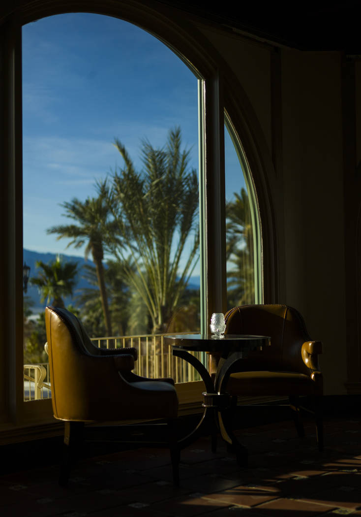 Interior decorations during a tour of The Inn at Death Valley in Death Valley National Park, Calif, on Tuesday, Jan. 23, 2018. The Inn, formerly the Furnace Creek Inn prior to renovations, is slat ...