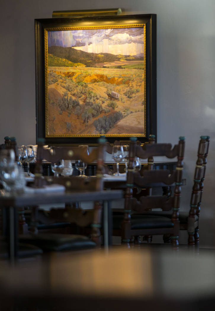 A painting from the collection of Philip Anschutz, owner of Xanterra Parks & Resorts, during a tour of The Inn at Death Valley in Death Valley National Park, Calif, on Tuesday, Jan. 23, 2018.  ...