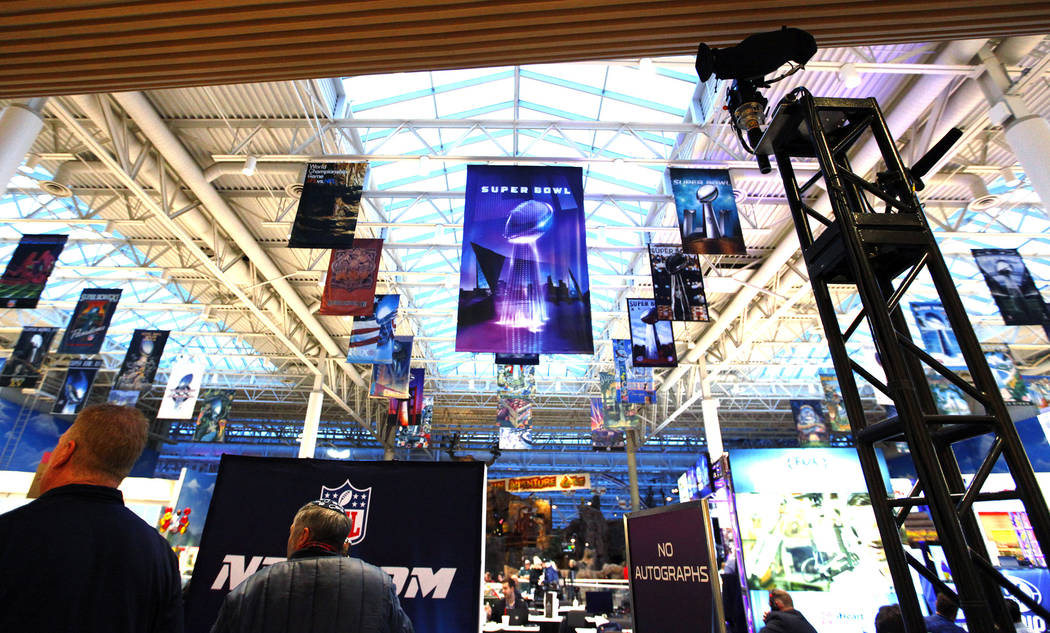 The Mall of America is transformed to accommodate radio row during Super Bowl 52 week in Bloomington, Minn., Tuesday, Jan. 30, 2018. Heidi Fang Las Vegas Review-Journal @HeidiFang
