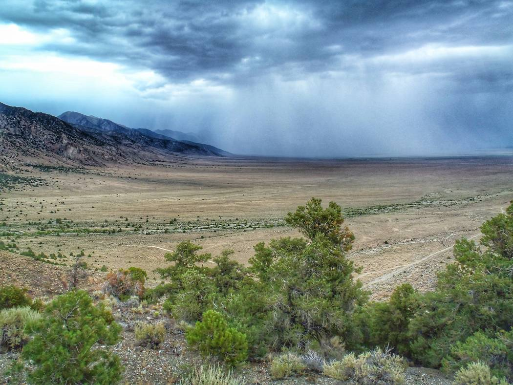 Patrick Donnelly/Center for Biological Diversity file A storm moves through Big Smoky Valley in central Nevada's Nye County. The U.S. Bureau of Land Management recently offered 208 parcels in Whit ...