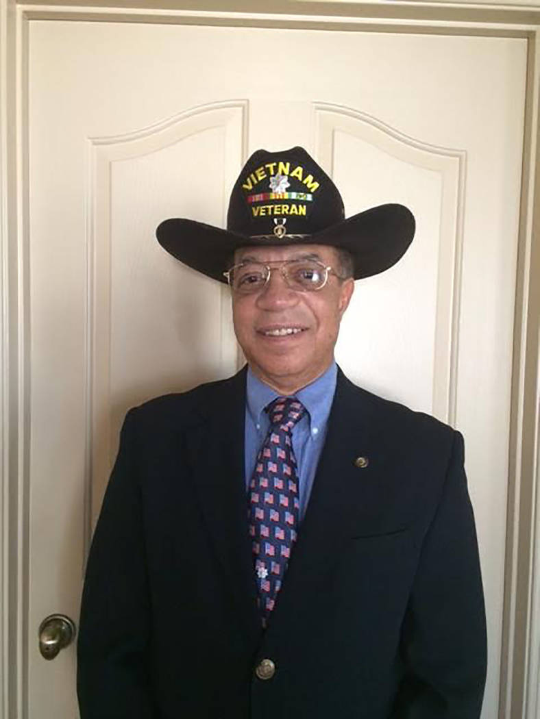 Special to the Pahrump Valley Times Dr. Tom Waters, chair of the Veterans Finance Committee, said he is excited to see the first of the banners for the Veterans Banner Program go up in the near fu ...