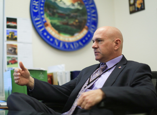 Brett Le Blanc/Las Vegas Review-Journal Nevada Department of Corrections Director James Dzurenda talks about his plans for the Nevada prison system at his office in Las Vegas as shown in this 2016 ...