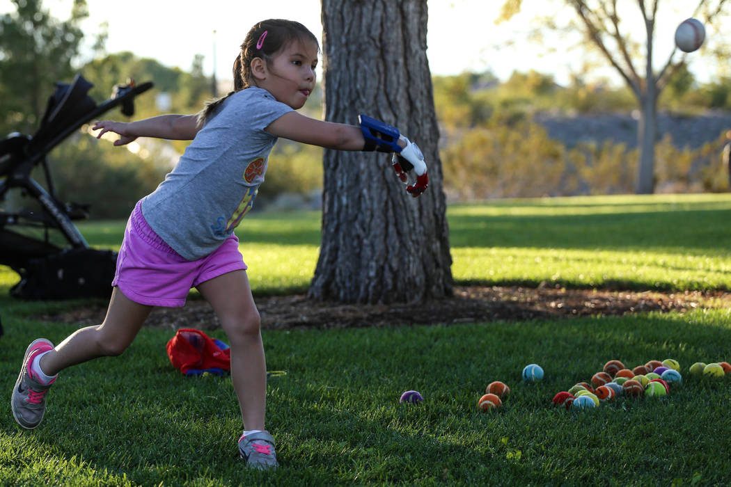 Joel Angel Juarez/Las Vegas Review-Journal The Golden Knights will host Hailey Dawson for a ceremonial puck drop at the Golden Knights vs. Philadelphia Flyers game at 5 p.m. on Feb. 11. Hailey is  ...