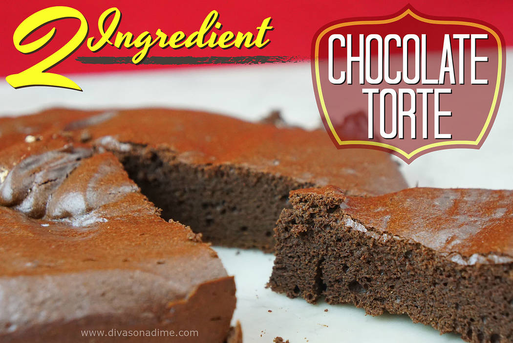 Patti Diamond/Special to the Pahrump Valley Times Only two ingredients are needed to make this rich, decadent chocolate cake for your valentine, columnist Patti Diamond writes.