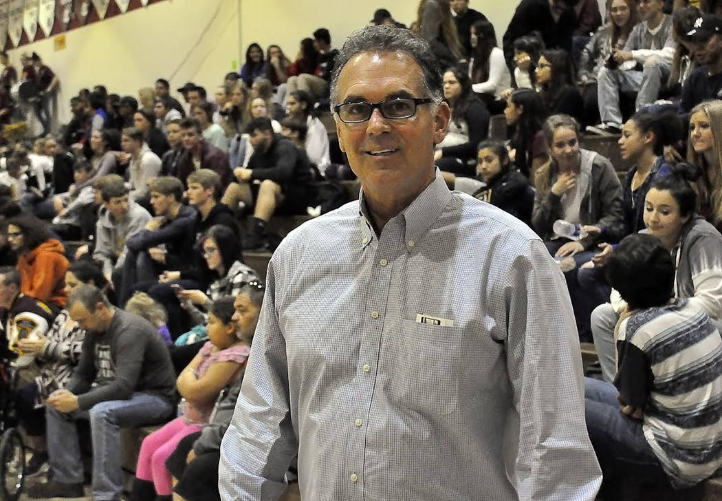 Horace Langford Jr./Pahrump Valley Times On Jan. 19, U.S. Senate candidate Danny Tarkanian visited Pahrump at the Pahrump vs. Cheyenne girls basketball game. He is hoping to unseat incumbent candi ...