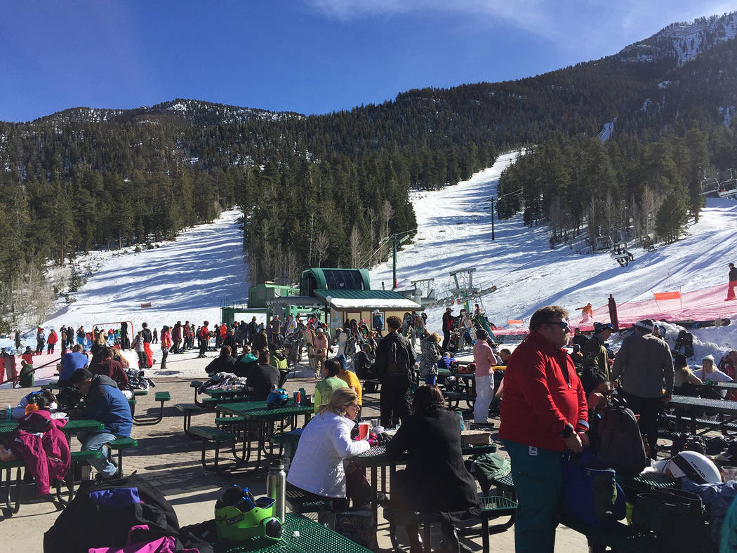 Special to Pahrump Valley Times The Ruby Cup is in memory of snowboarder and donor Chris Ruby. This year's event was held last month at Lee Canyon. The event also featured live music and raffles.