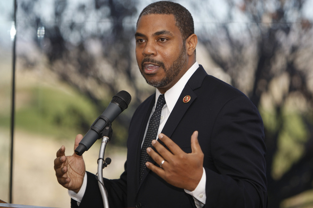 Erik Verduzco/Las Vegas Review-Journal Steven Horsford, a former U.S. House member, is running to regain the seat he lost in the 2014 election. The district includes Pahrump, Beatty, Tonopah, Esme ...