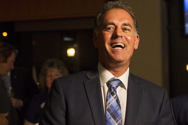 Republican Congressional District 3 candidate Danny Tarkanian is shown during his election night gathering at Born and Raised in Las Vegas on Tuesday, June 14, 2016. (Richard Brian/Las Vegas Revie ...