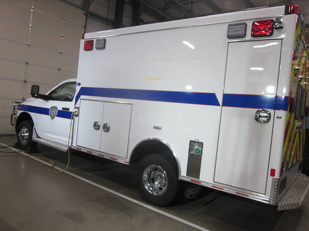 Special to the Pahrump Valley Times The new ambulance for the Tonopah area is expected to be transported to Nye County on Feb. 10. Two other ambulances are also being fitted out for the county and ...