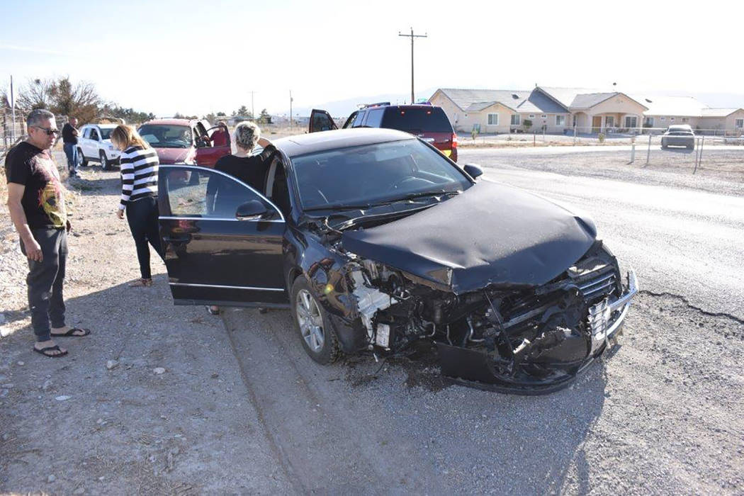 Special to the Pahrump Valley Times Pahrump fire crews responded to a motor vehicle collision along Money Street on Sunday, Feb. 4, just before 5 p.m. One person, who was medically entrapped insid ...