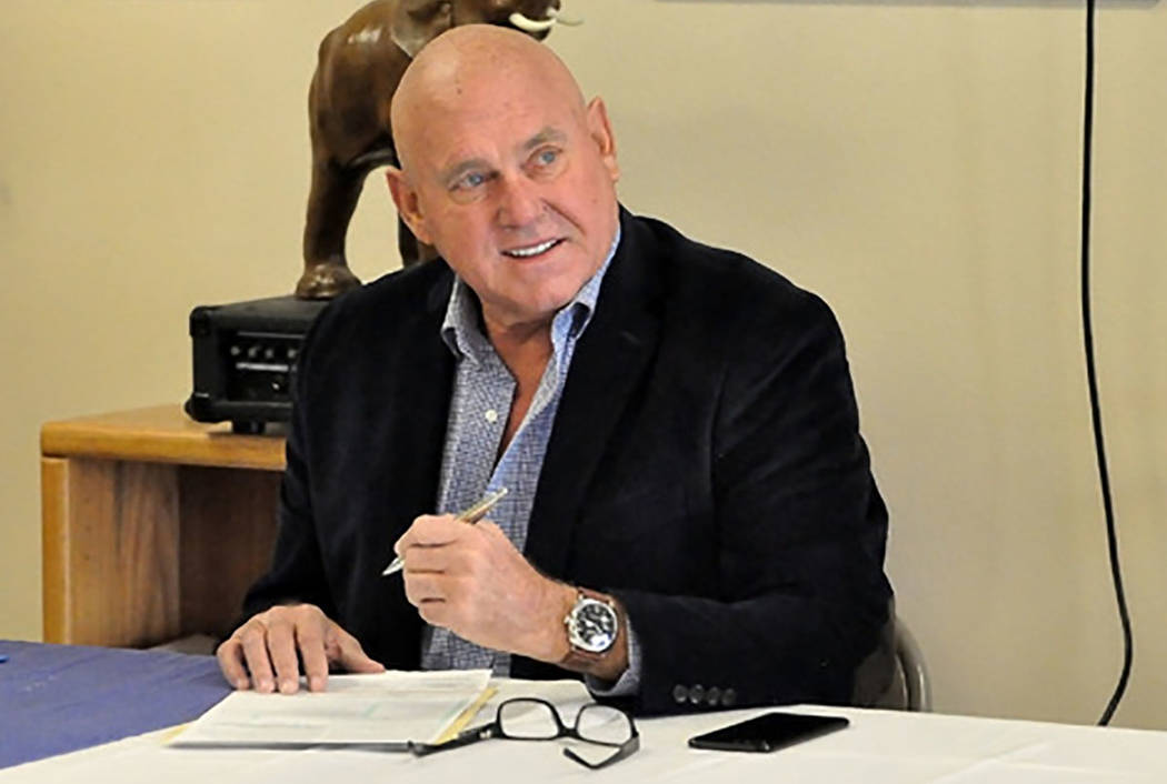 Special to the Pahrump Valley Times  Brothel owner Dennis Hof is shown in a file photo. Hof recently filed a lawsuit against Nye County.