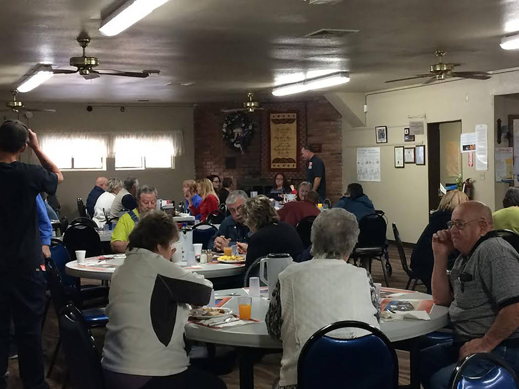 Robin Hebrock/Pahrump Valley Times The Pahrump Senior Center was packed with patrons on Feb. 10 during a public meeting and fundraiser for the Pahrump Valley Public Transportation system.