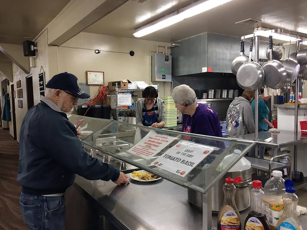 Robin Hebrock/Pahrump Valley Times Smiling senior center staff and volunteers served a plethora of pancake breakfasts to residents attending the pancake fundraiser, which provided the opportunity  ...