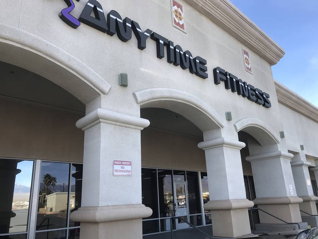 Jeffrey Meehan/Pahrump Valley Times Management at Anytime Fitness' Pahrump location at 70 S. Highway 160 said the health club sees an increase in traffic in December and January, as the new year t ...