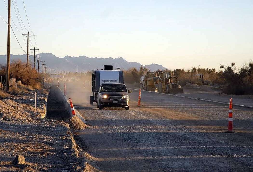 Horace Langford Jr./Pahrump Valley Times - Feb 8, 2018 Homestead southbound