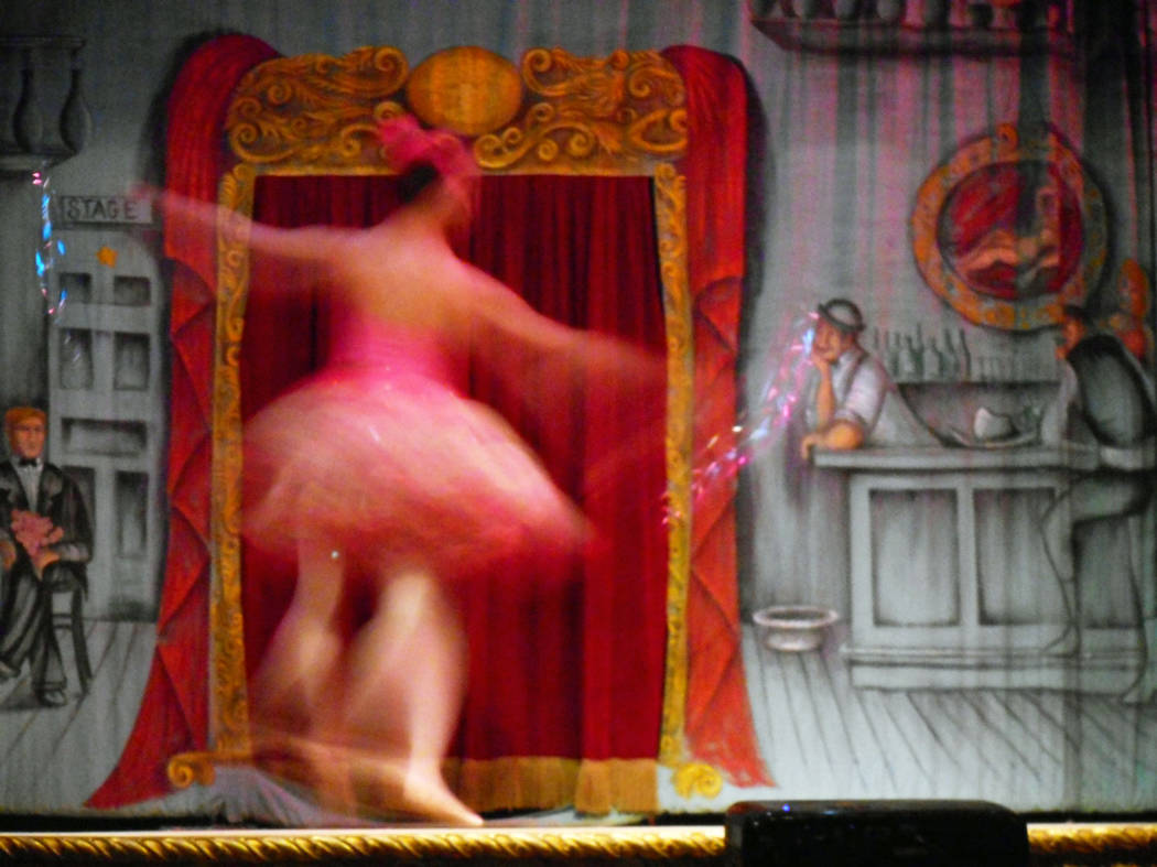 Robin Flinchum/Special to the Pahrump  Hilda Vazquez spins in the Kewpie Dance at a performance marking the 50th anniversary of the Amargosa Opera House. The event was a sold-out celebration.
