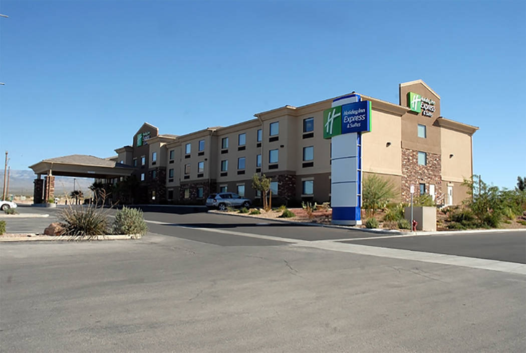 Special to the Pahrump Valley Times  Nye County Sheriff's Office detectives are investigating a body discovered at the Holiday Inn Express along Highway 160 on Saturday. Authorities are calling th ...