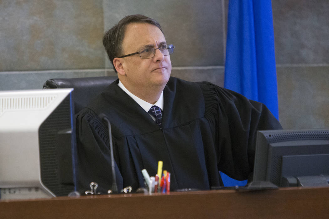 Erik Verduzco/Las Vegas Review-Journal  This is a Feb. 14, 2017, file photo of District Judge Richard Scotti at the Regional Justice Center in Las Vegas.