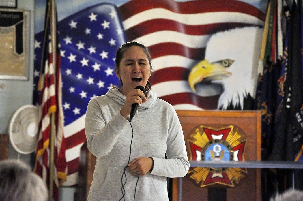 """Horace Langford Jr./Pahrump Valley Times The show, entitled """"Saluting Our Veterans,"""" is a benefit fundraiser for the community veterans food pantry. USO Show auditions were held earlier this m ..."""