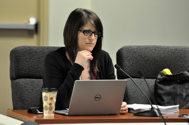 Horace Langford Jr./Pahrump Valley Times  Nye County Comptroller Savannah Rucker brought several budget augmentations to the commission this month, all of which were unanimously approved.