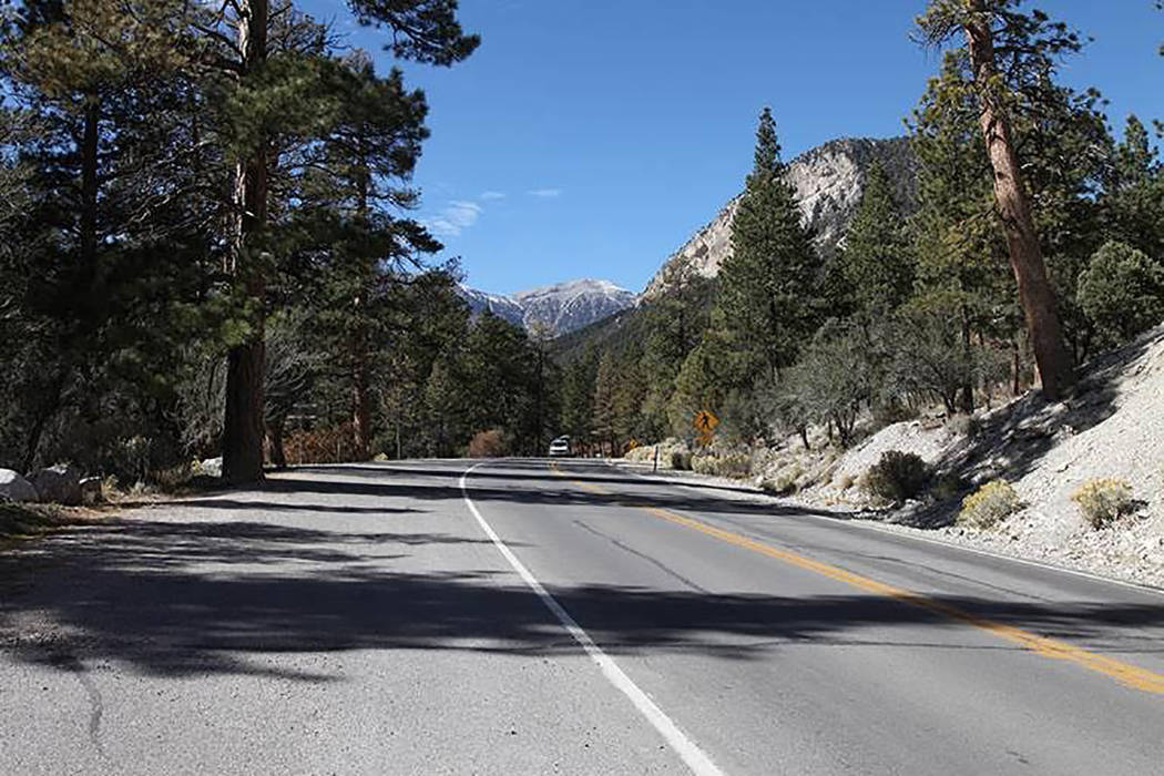 Special to the Pahrump Valley Times A hiker found the body about 5:10 p.m. Sunday between mile markers 9 and 11 on Kyle Canyon Road.