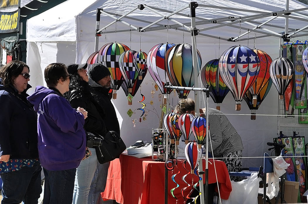 Horace Langford Jr./Pahrump Valley Times Both local and out of town vendors set up shop throughout Petrack Park for the event. Pahrump Valley Chamber of Commerce officials said 70-plus vendors sig ...