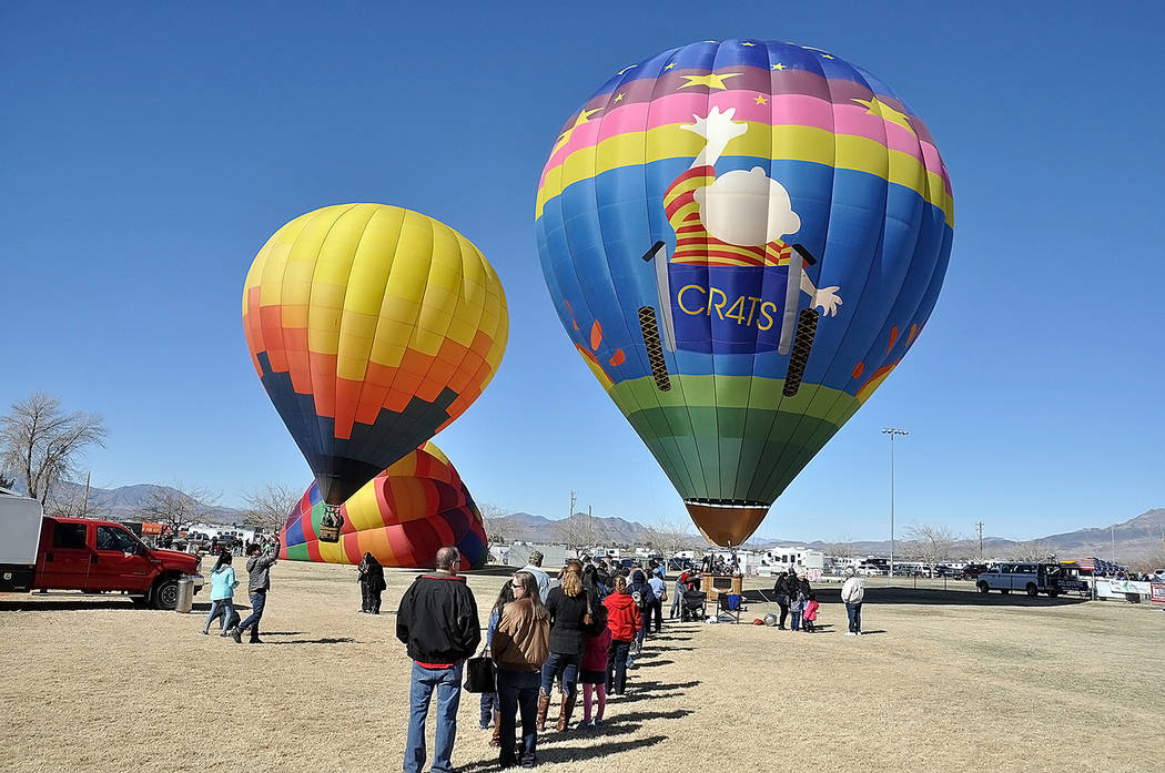 Horace Langford Jr./Pahrump Valley Times Pahrump Valley Chamber of Commerce CEO Chris Erwin noted that tens of thousands of online inquiries regarding the balloon festival were made in the days an ...