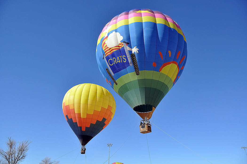 Horace Langford Jr./Pahrump Valley Times Pahrump Valley Chamber of Commerce Event Coordinator Donna Corey said more than two dozen balloonists from around the country participated in this year's e ...