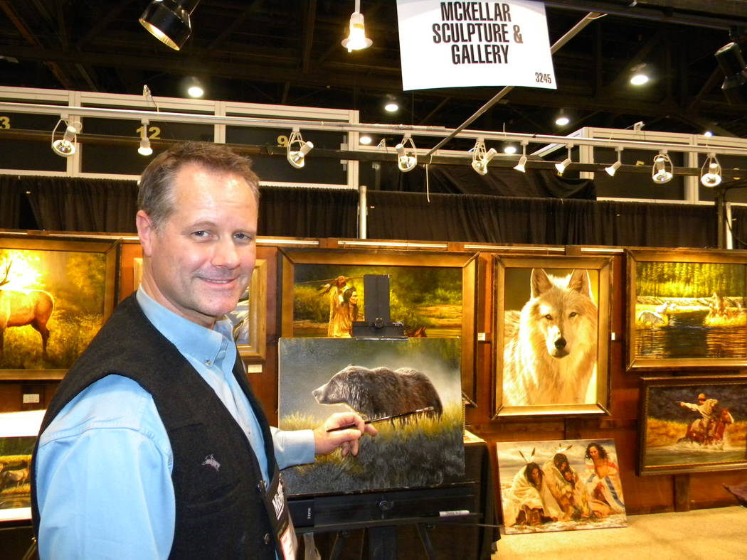 Dan Simmons/Special to the Pahrump Valley Times A show real stopper, Joe Kronenberg has added wildlife art to his passion for native and western images.