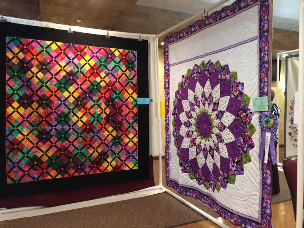 Robin Hebrock/Pahrump Valley Times This photo shows reporter Robin Hebrock's favorite quilt at the 2018 Pins and Needles Quilt Show. Made by Marilyn Swango and quilted by Lydia Kemp, it is titled  ...