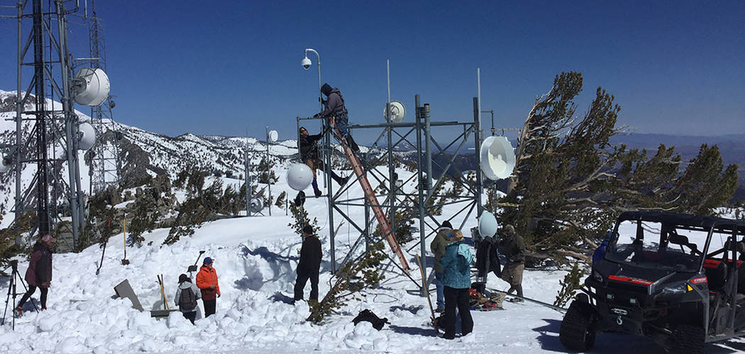 University of Nevada, Reno The Nevada Seismological Lab gets help from Tahoe area Rotary Clubs to install a fire camera on Slide Mountain, which affords 360 degree views of the Tahoe Basin and the ...