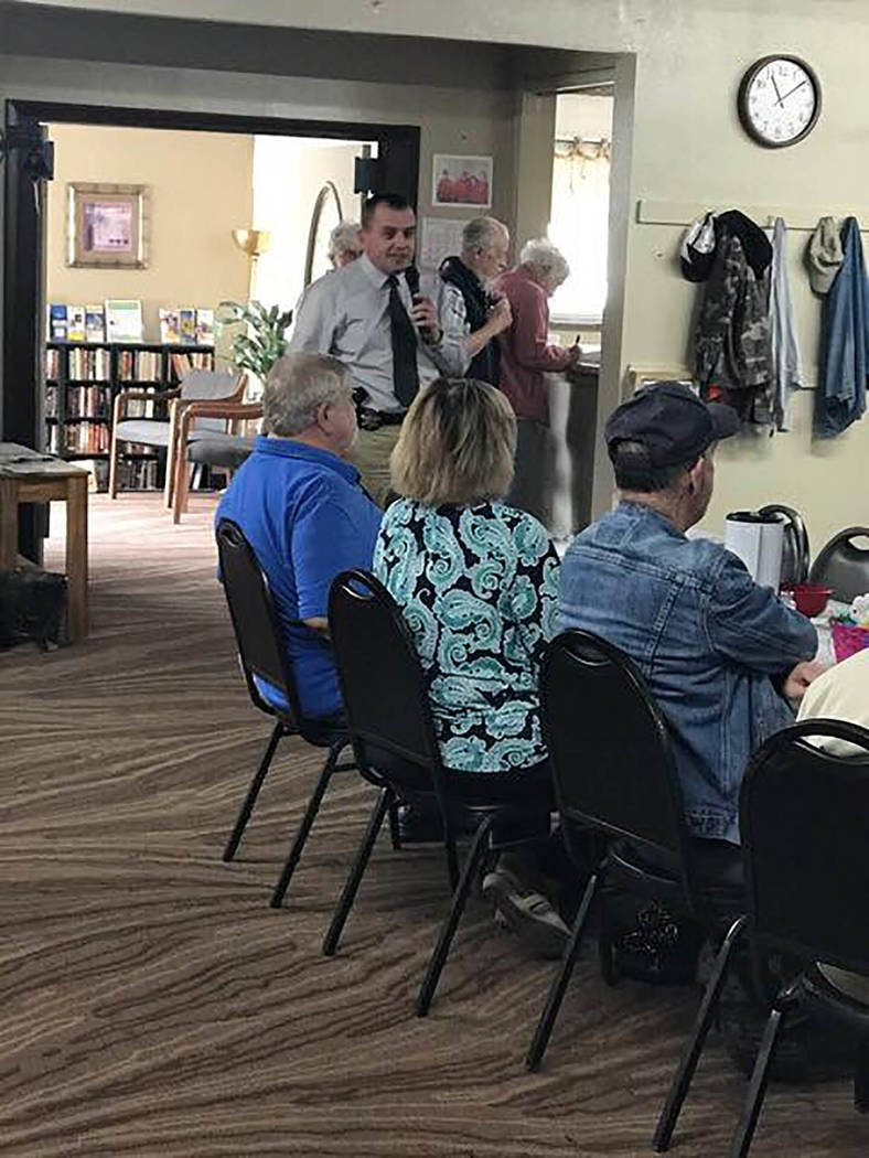Special to Pahrump Valley Times A look inside the Pahrump Senior Center where the latest menus have been announced.