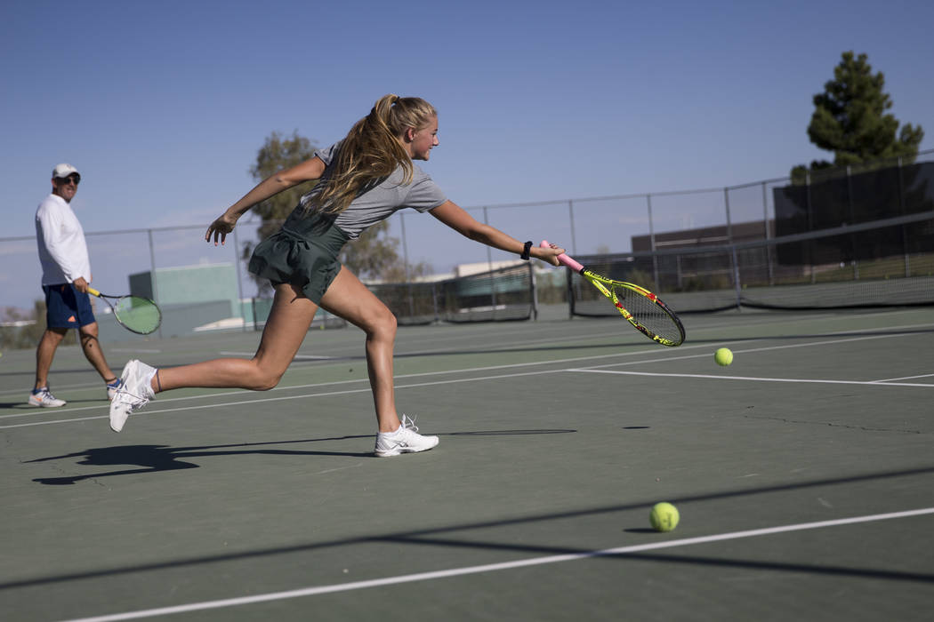 Erik Verduzco/Las Vegas Review-Journal  Pahrump Valley High School could soon add a tennis team to its list of sports offered. The Nye County School district superintendent has met with Nevada Int ...