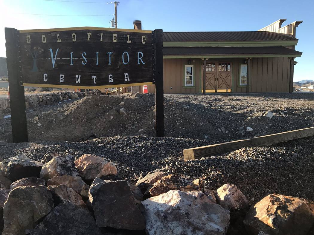 Jeffrey Meehan/Pahrump Valley Times The Goldfield Visitor Center, which sits near 1st Street and U.S. Highway 95 in Goldfield, is pegged to have a grand opening celebration on April 28. The celebr ...