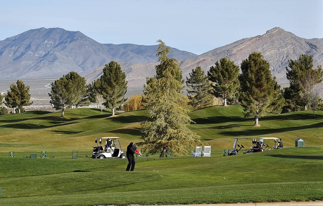 Horace Langford Jr./Pahrump Valley Times The Spring Mountains will provide the backdrop when Mountain Falls Golf Course hosts the No To Abuse Golf Tournament on Saturday, March 10.