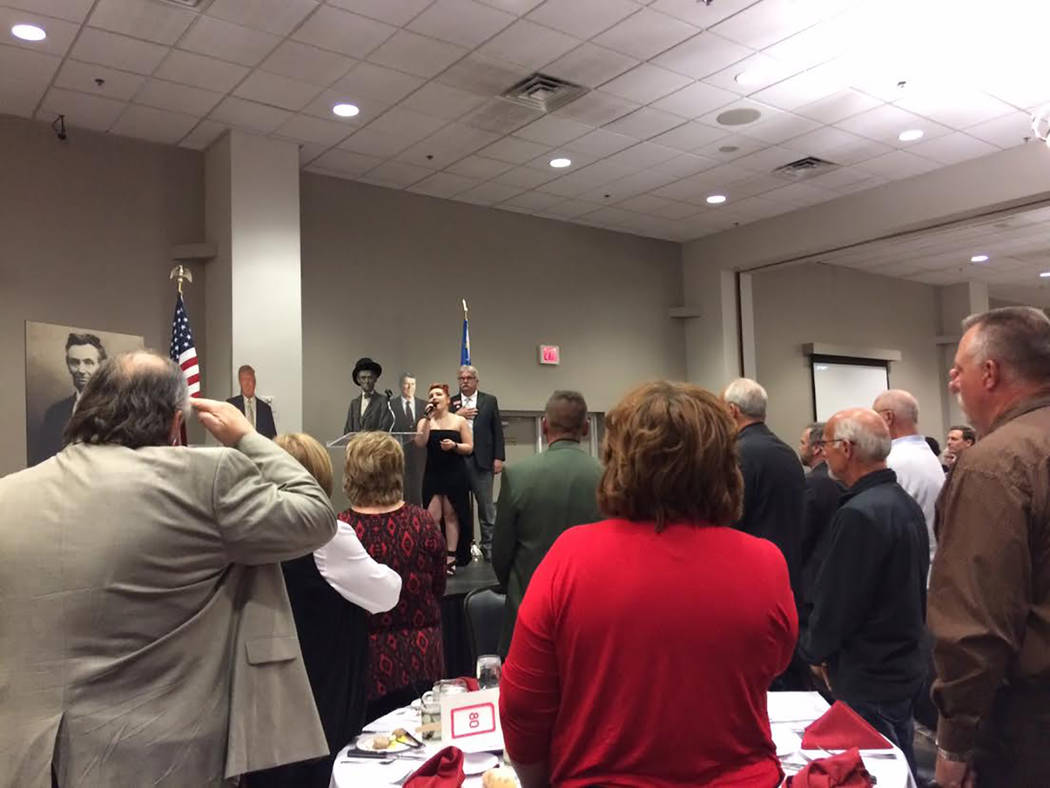 Robin Hebrock/Pahrump Valley Times National Anthem