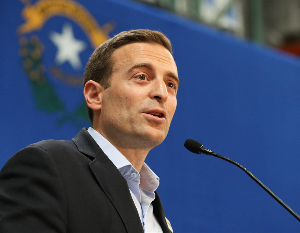 Gabriella Benavidez/Las Vegas Review-Journal Nevada Attorney General Adam Laxalt is now embroiled in the fight over Nevada State Engineer Order #1293. He recently filed opposition to a motion to s ...