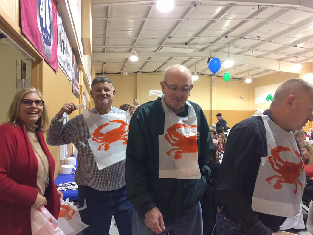 Robin Hebrock/Pahrump Valley Times Two other well-known CASA supporters in attendance Saturday evening were Nevada Assemblyman James Oscarson and his wife, first and second from the left. They hel ...