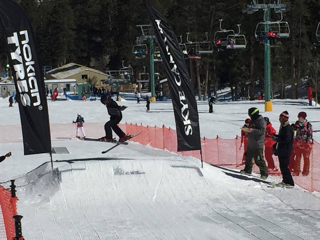 Special to the Pahrump Valley Times Competitors were judged on style and execution of skiing/riding on regular terrain and performance on a beginner jump, or beginner terrain park feature, which a ...