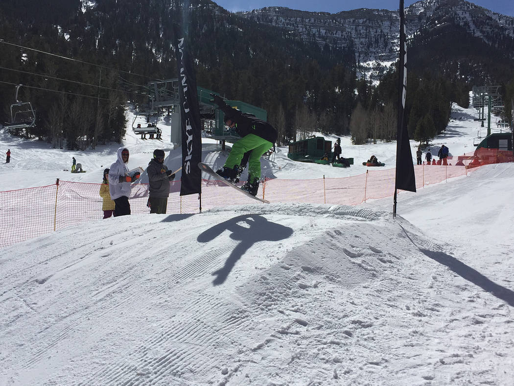 Special to the Pahrump Valley Times Competitors in the Lil 'Air N Style event were divided into three categories based on sport and age.  A separate open division featured skiers and snowboarders  ...