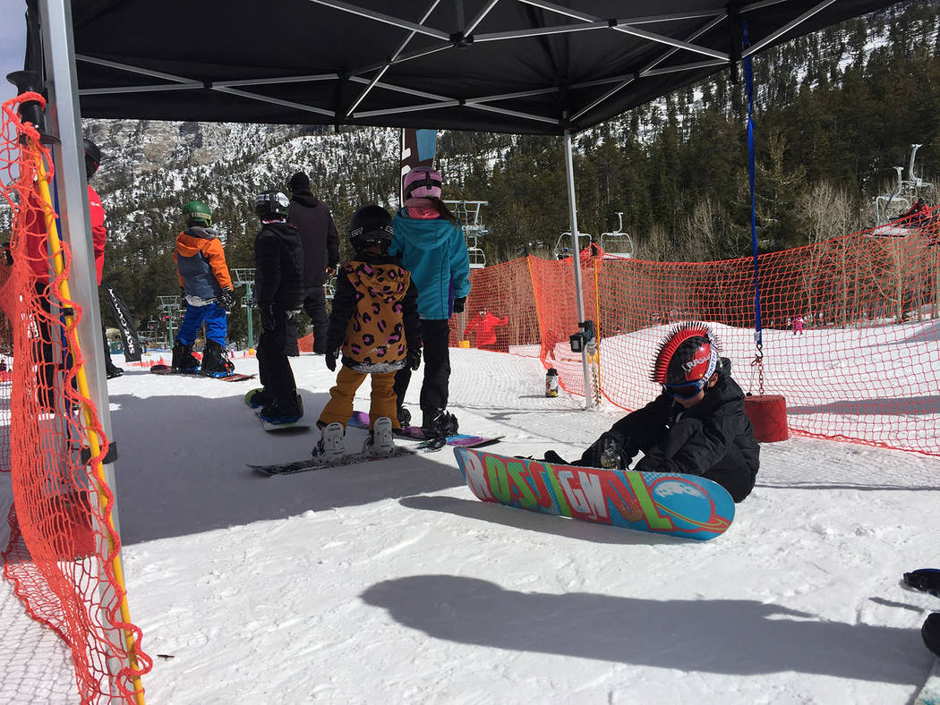 Special to the Pahrump Valley Times The Feb. 24 competition was the culmination of a four-week freeriders and mountaineers class program. More than 100 people took part in the event at Lee Canton.