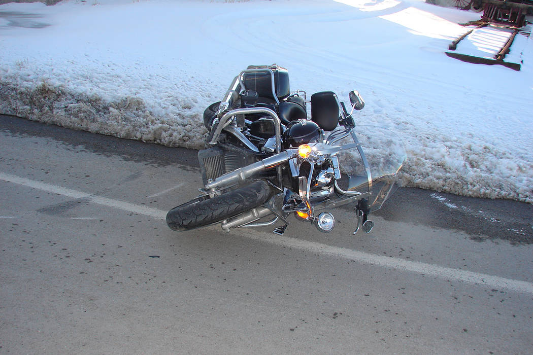 "Nevada Highway Patrol The motorcycle driver entered a large sweeping right curve and was traveling too fast"" to handle the curve,"" the Nevada Highway Patrol said in a statement. The crash occu ..."