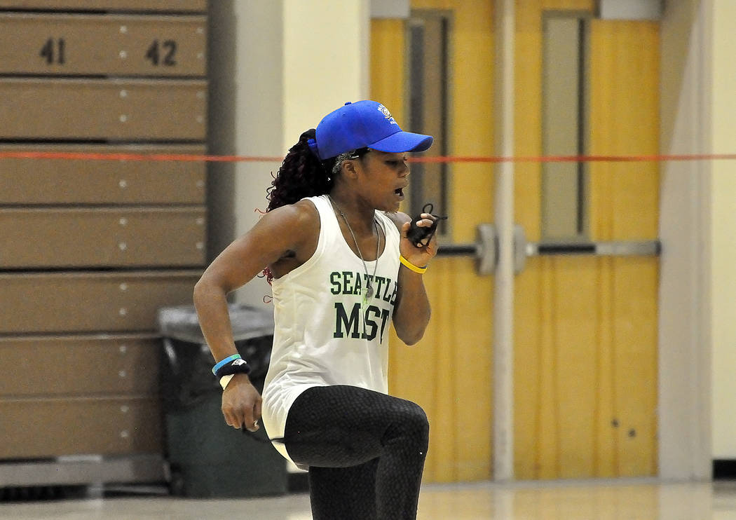 "Horace Langford Jr./Pahrump Valley Times Former Pahrump Valley and Arizona State track star Dominique Maloy is back for another series of ""A Youth Sports Experience"" beginning Friday, March 16."