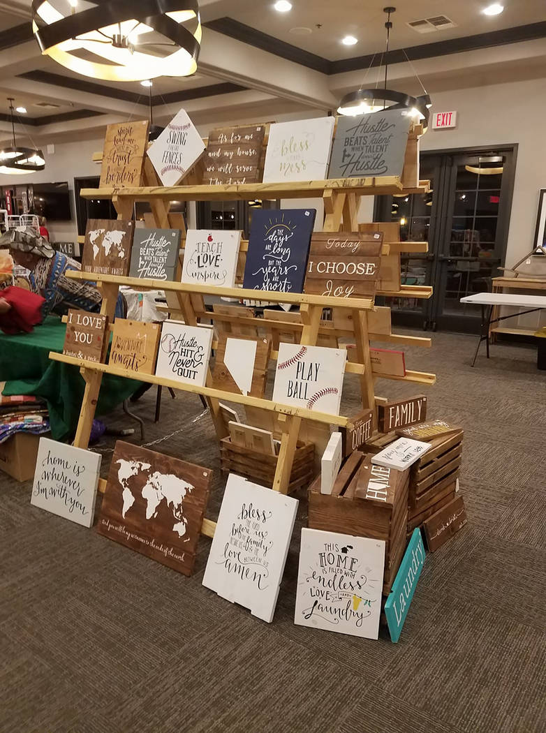 Special to the Pahrump Valley Times  Organizer Ginger Forbes said attendees can shop for one-of-a-kind arts and craft pieces at bargain prices during the Mountain Falls Craft Show on Saturday. Adm ...