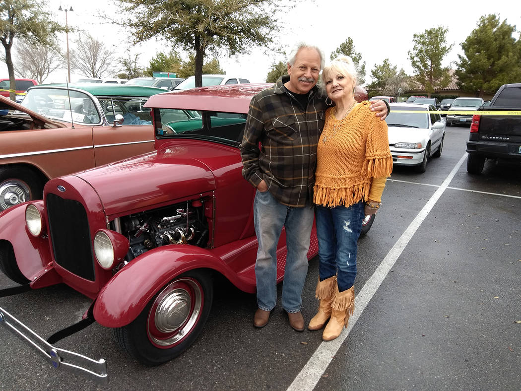 Selwyn Harris/Pahrump Valley Times Lorin and Liz Seidman of Henderson, Nevada took home a plaque for Best in Show, with their 1929 Ford two-door sedan. The Seidman's, who purchased the car back  ...