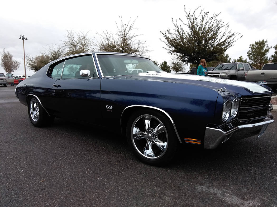 "Selwyn Harris/Pahrump Valley Times Described as a ""Monster,"" this 1970 Chevy Chevelle SS won a ""by decade"" award for local resident Mike Ley. The car generated many admiring looks and comments thr ..."