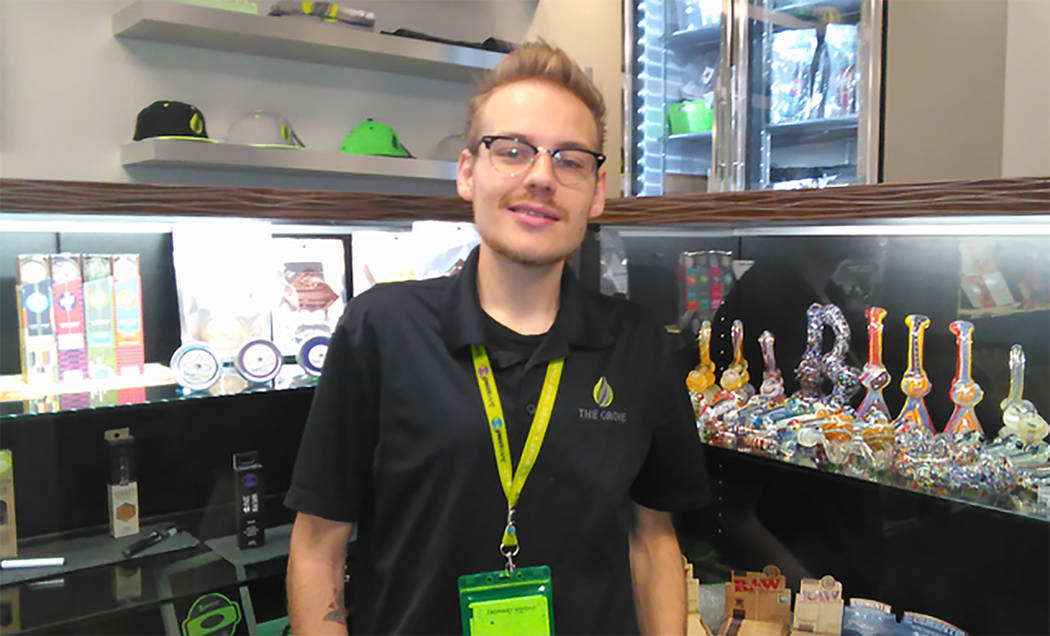 Selwyn Harris/Pahrump Valley Times Grove Manager Zachary Wright is hosting the dispensary's two year anniversary on Saturday March 17, from 9 a.m. until 10 p.m. Wright said customers can take adva ...