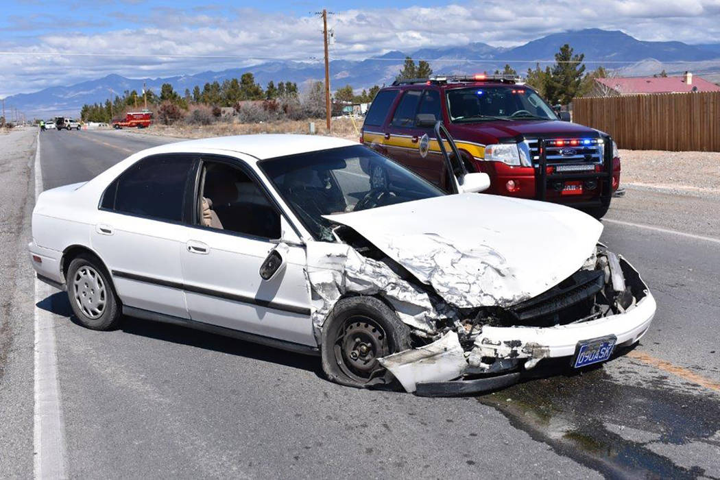 "Special to the Pahrump Valley Times A ""door-pop"" was required to free an entrapped person on March 12, as emergency crews responded to the intersection of Pahrump Valley Boulevard at Elderberry St ..."
