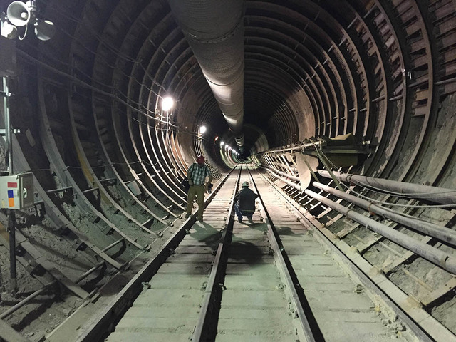 Pahrump Valley Times News photographers take pictures inside Yucca Mountain, site of a proposed nuclear waste repository, as shown in this 2015 file photo.